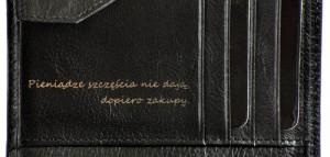Portfel męski PUCCINI P-1698 czarny grawer